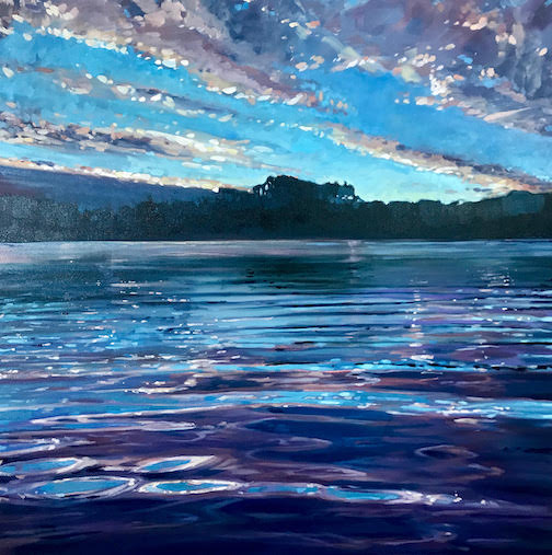 Early Morning Reflection by Reid Thorpe, one of the paintings on exhibit at the Johnson Heritage Post on Friday; The exhibit is open through Sept. 6.