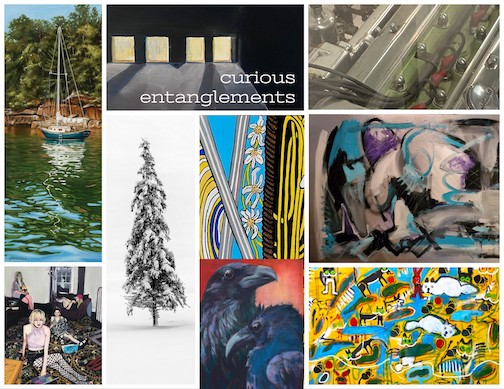 A virtual reception with the artists of Curious Entanglements will be held at 6 p.m. Thursday.