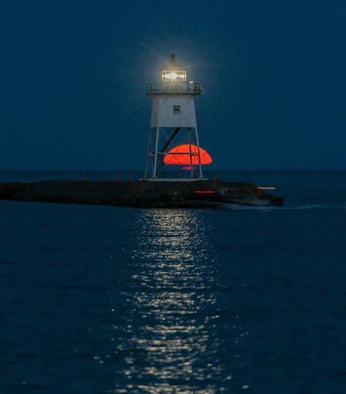 Full Sturgeon Moon tonight by David Johnson.
