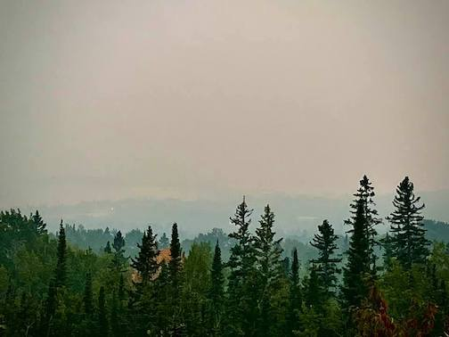 Grand Marais is down there somewhere by David Johnson.