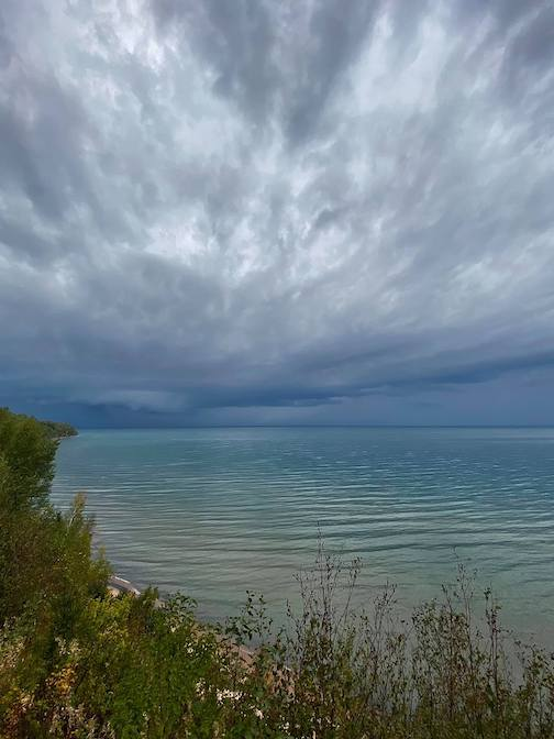 A parade of storms tonight by Ann Bowman.
