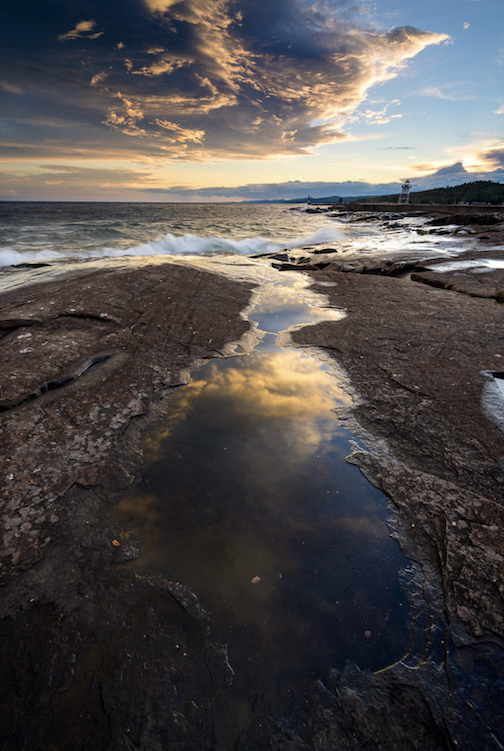 Sunset reflections by Bryan Hansel.