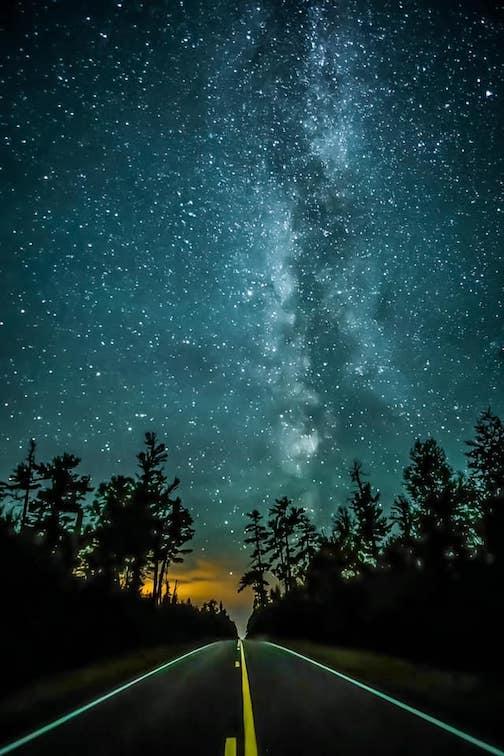 Beautiful night at Gunflint Pines by David Johnson.
