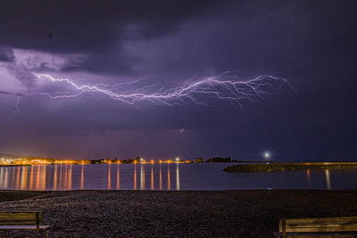 A nice night for a light show by David Johnson.