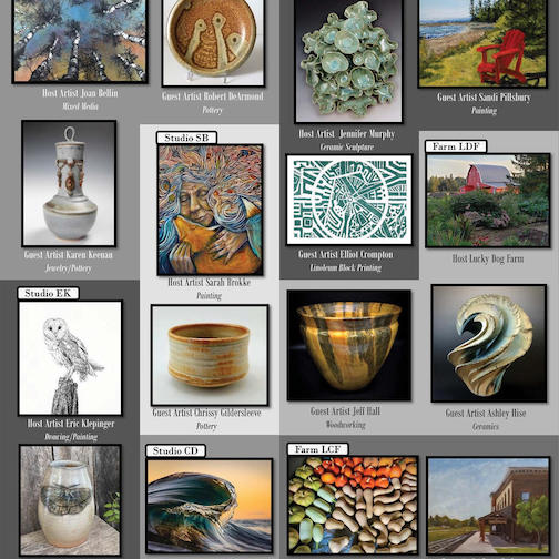An example of the some of the artists participating the the Lake Superior 20/20 Tour this year. It will be held on Friday and Saturday this week. For more info, maps and more, click here.
