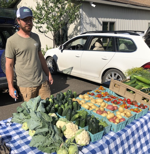 The Local Food Market is held in the parking lot of the Cook county Community Center from 4:30-6 p.m. on Thursdays. This is the height of the harvesting season in Cook County. The tomatoes and peppers are in!