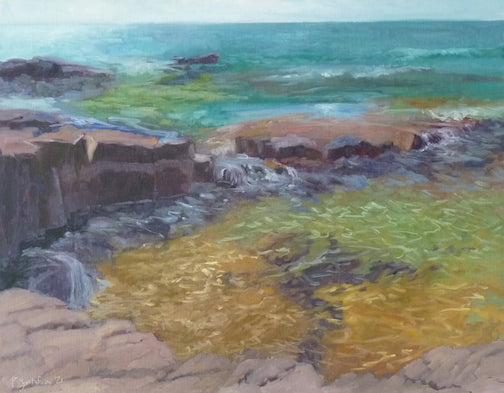 One of Paula Gustafson's entry to the Grand Marais Plein Air this year. All participating artists can show up to four paintings in the exhibit at the Johnson Heritage Post, which opens to the public at 5 p.m. Friday.