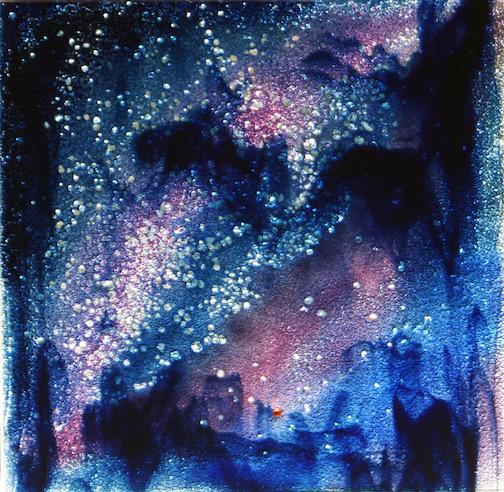 Milky Way Magic, kiln-formed glass by Sharon Frykman.
