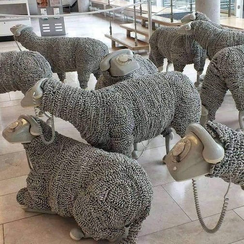 Telephone Sheep by Jean Luc Cornec.