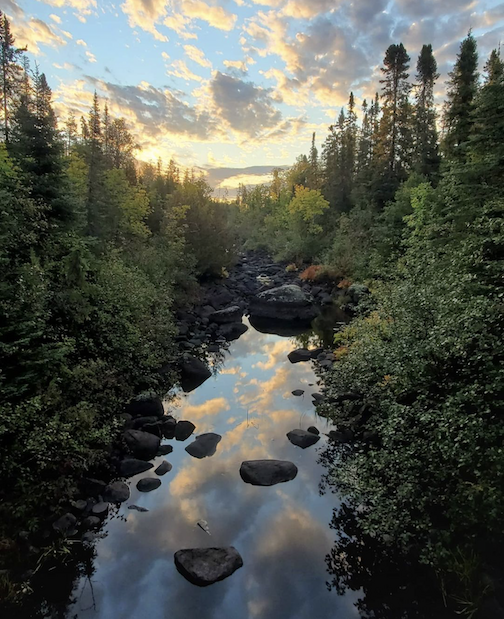 Morning reflection in Superior National Forest by Tom Spence.