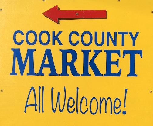 The Cook County Market will be open f 10 a.m. to 2 p.m.