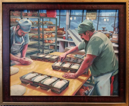 """""""Forming Loaves"""" by Matt Kania. Kania is one of the artists exhibit at the Johnson Heritage Post this month."""