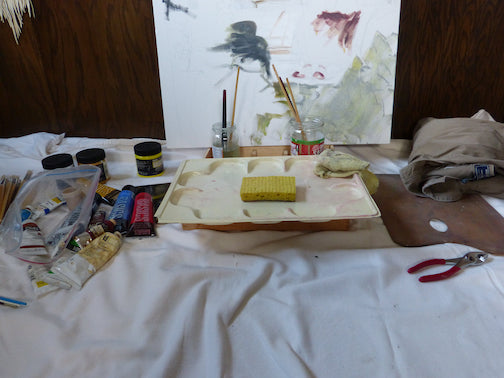 """Mona Abdel-Rahman writes: It's been a long time, but I began to paint again."""""""
