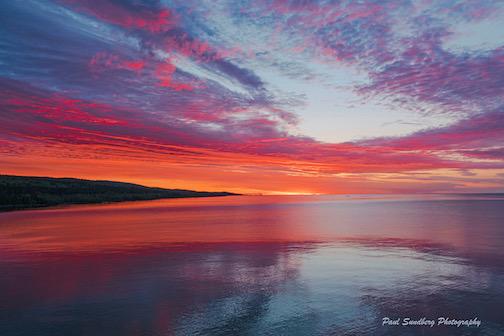 Sunrise from Cutface Wayside by Paul Sundberg.
