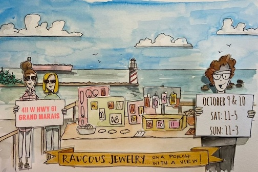 Judy Christensen of Raucous Jewelry, will have a pop-up show on the deck of Songbird Suites, the former site of Harbor House Grille.