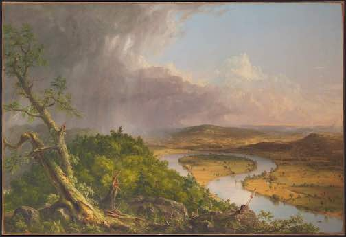 The Oxbow, painting by Thomas Cole, is at the Metropolitan Museum of Art.